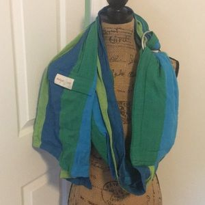 Maya baby wrap blue green Excellent cond carrier